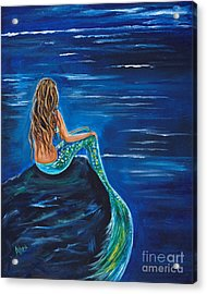 Evening Tide Mermaid Acrylic Print