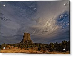 Evening Time At Devils Tower Acrylic Print
