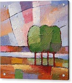 Evening Trees Acrylic Print by Lutz Baar