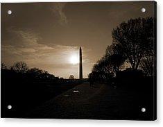 Evening Washington Monument Silhouette Acrylic Print
