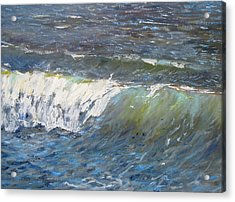 Evening Wave Acrylic Print by Thomas Glass Phinnessee
