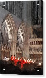 Evensong Practice At Wells Cathedral Acrylic Print