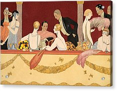 Eventails Acrylic Print by Georges Barbier