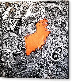 Ever Decreasing Madness Acrylic Print by Sam Hane