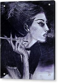Acrylic Print featuring the drawing Ever Dream by Jarko Aka Lui Grande