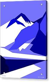 Everest Blue Acrylic Print by Asbjorn Lonvig