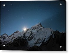 Acrylic Print featuring the photograph Everest Supermoon by Owen Weber