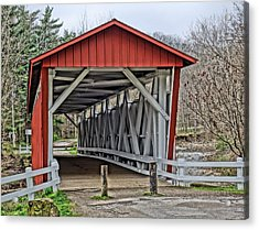 Everett Covered Bridge Acrylic Print by Dan Sproul