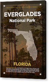 Everglades National Park In Florida Travel Poster Series Of National Parks Number 15 Acrylic Print