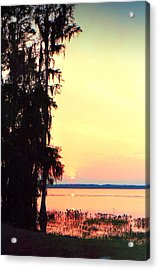 Everglades Sunset Acrylic Print by Lynnette Johns