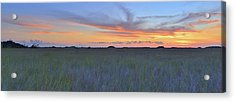 Acrylic Print featuring the photograph Everglades Sunset Panorama by Stephen  Vecchiotti