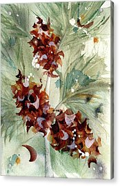Acrylic Print featuring the painting Evergreen Branch by Dawn Derman