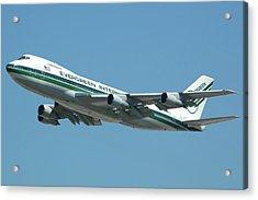 Evergreen International 747-273c N470ev At San Bernardino May 31 2006 Acrylic Print by Brian Lockett