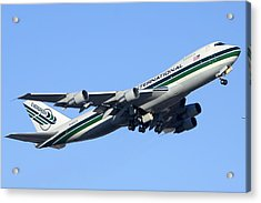 Evergreen International Boeing 747-212b N482ev Phoenix Sky Harbor Arizona December 23 2011 Acrylic Print by Brian Lockett