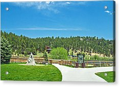 Evergreen Lake Acrylic Print by Richard Risely