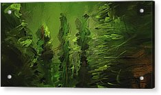 Evergreens - Green Abstract Art Acrylic Print