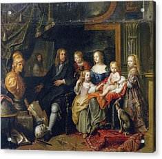 Everhard Jabach And His Family Acrylic Print by Charles Le Brun