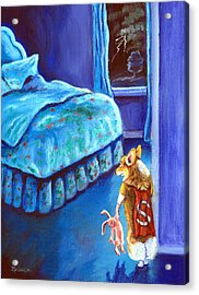 Every Super Hero Has A Moment Acrylic Print by Lyn Cook
