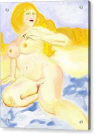 Acrylic Print featuring the painting Every Woman Is A Goddess by Shelley Bain