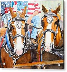 Everybody Loves A Parade Acrylic Print by Ally Benbrook