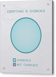 Acrylic Print featuring the digital art Everything Is Chemicals by Ivana Westin