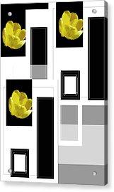 Everything Yellow White Black Acrylic Print by Tina M Wenger