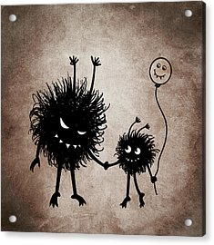 Evil Bug Mother And Child Acrylic Print