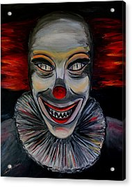 Evil Clown Acrylic Print by Daniel W Green