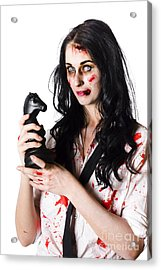 Evil Dead Business Zombie With Chess Playing Piece Acrylic Print by Jorgo Photography - Wall Art Gallery