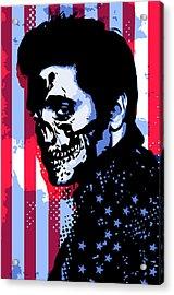 Evil Elvis Acrylic Print by Tom Deacon
