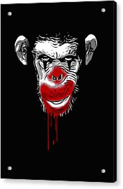Evil Monkey Clown Acrylic Print