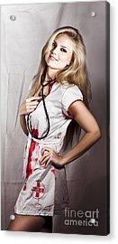 Evil Nurse Acrylic Print by Jorgo Photography - Wall Art Gallery
