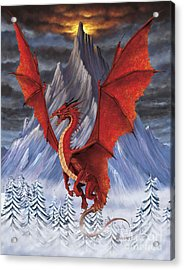 Evil Red Dragon Acrylic Print