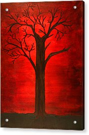 Evil Tree Acrylic Print by David Stasiak