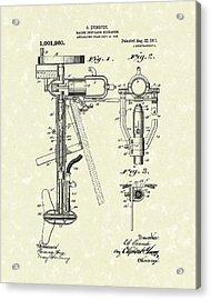 Evinrude Boat Motor 1911 Patent Art Acrylic Print by Prior Art Design