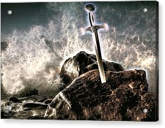 Acrylic Print featuring the digital art Excalibur by Pennie McCracken