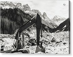 Acrylic Print featuring the photograph Excavators by Fred Denner