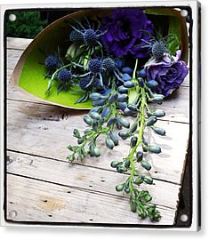 Acrylic Print featuring the photograph Excellent Customer Service. #flowers by Mr Photojimsf