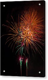 Exciting Fireworks Acrylic Print by Garry Gay