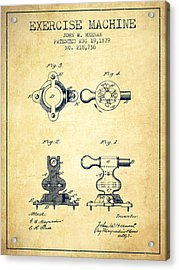 Exercise Machine Patent From 1879 - Vintage Acrylic Print