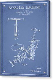 Exercise Machine Patent From 1953 - Light Blue Acrylic Print