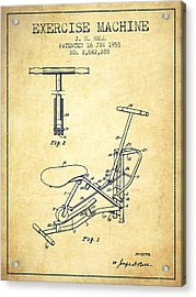 Exercise Machine Patent From 1953 - Vintage Acrylic Print