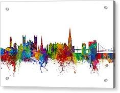 Exeter England Skyline Acrylic Print