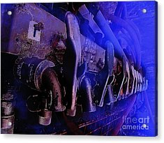 Exhaust And Oil Spickets Acrylic Print by The Stone Age