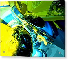 Exhilaration Abstract  Acrylic Print by Alexander Butler