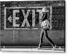 Exit Bw Acrylic Print