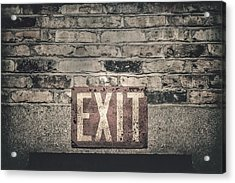 Exit Acrylic Print by Scott Norris