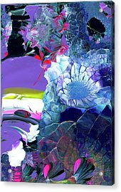 Exotic White Rose Island Acrylic Print