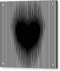Expanding Heart Acrylic Print