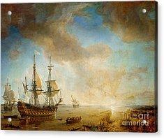 Expedition Of Robert Cavelier De La Salle  Acrylic Print by Jean Antoine Theodore Gudin